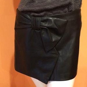 Trafaluc faux leather mini skirt